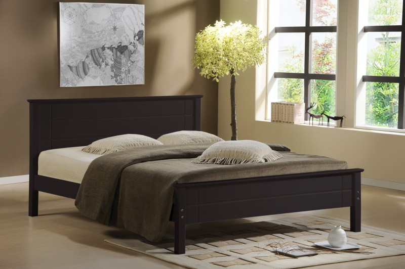 RoyalOak Austin Solid Wood King Bed(Finish Color - Cappuccino)