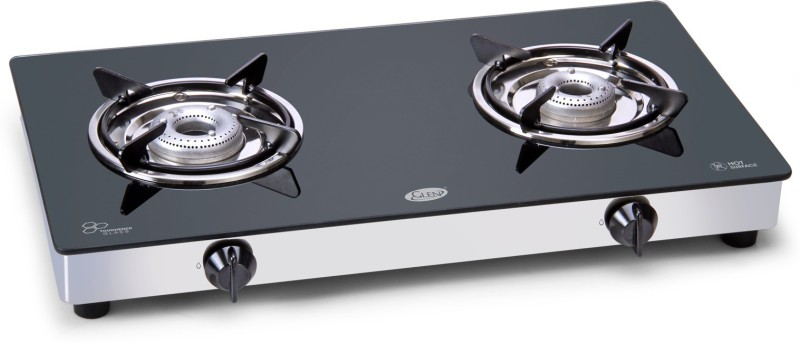 GLEN 1020FX Cooktop- 2 Burner Gas Stove Aluminium Manual Gas Stove(2 Burners)