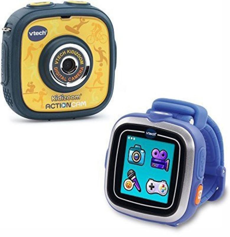 UnAssigned Vtech Kidizoom Action Cam Smart Watch Bundle(Multicolor)