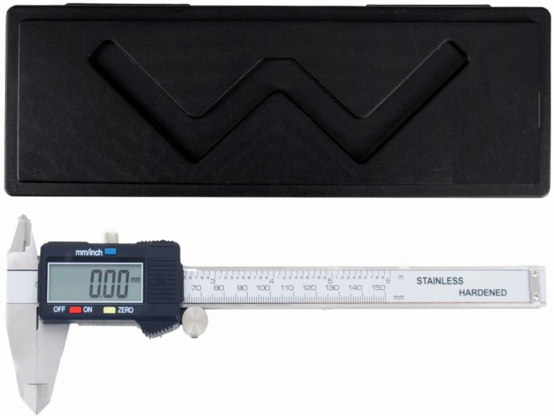 BalRama 0–150 mm/0–6 inch Metric/Imperial Dual Reading Electronic Digital Vernier Caliper with Storage Box Case + Extra Spare Battery + Large LCD Display + IP54 Water Resistant Hardened Stainless Steel Vernier Caliper Micrometer Electronic Gauge