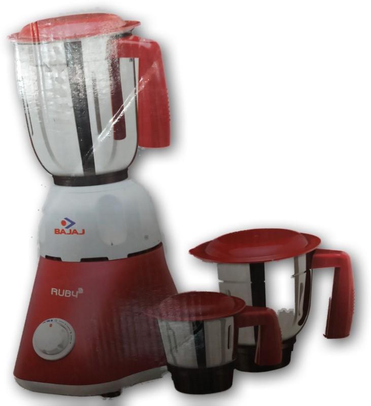 Bajaj 410190 500 Mixer Grinder(white/ red, 3 Jars)