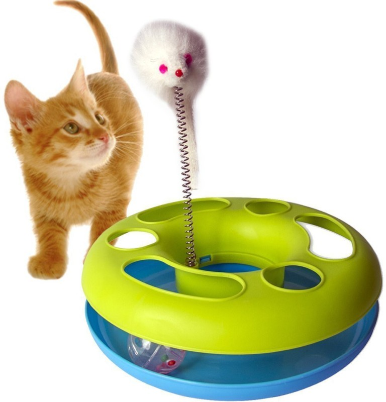 Pets Empire Catch The Mouse Motion Cat Toy (9x9-inch) Plastic Training Aid For Cat