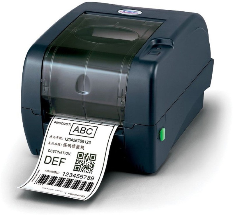 TSC TTP-345 Desktop Thermal Transfer 12 dots/mm (300 DPI) Bar Code Printer Single Function Printer(Black)