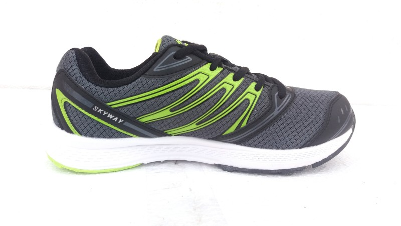 Campus Campus SKYWAY D.Gry/BK/P.Grn Men Running Shoes Running Shoes For Men(Grey, Black, Green)
