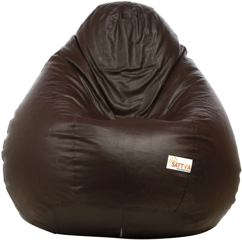 Sattva XXXL Bean Bag Cover (Without Beans)(Brown)