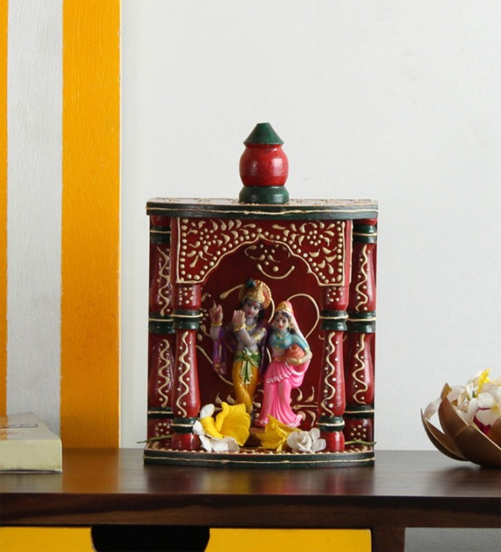 The Attic Solid Wood Home Temple(Height: 30 cm)