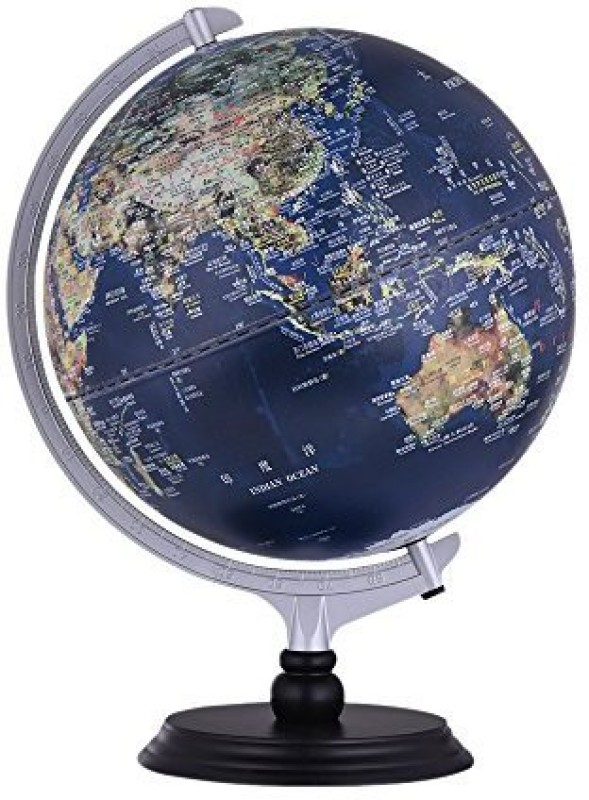 Aibecy Usb 2 In 1 Led Desktop World Globe Tellurion Daytime View Satellite Image Night View Illuminated Political Map With Stand For(Multicolor)