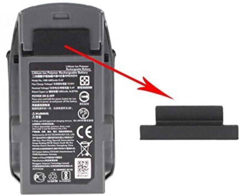 Inverlee Battery Dust Plug Silica Gel Protector Cover For Dji Spark (Black)(Multicolor)
