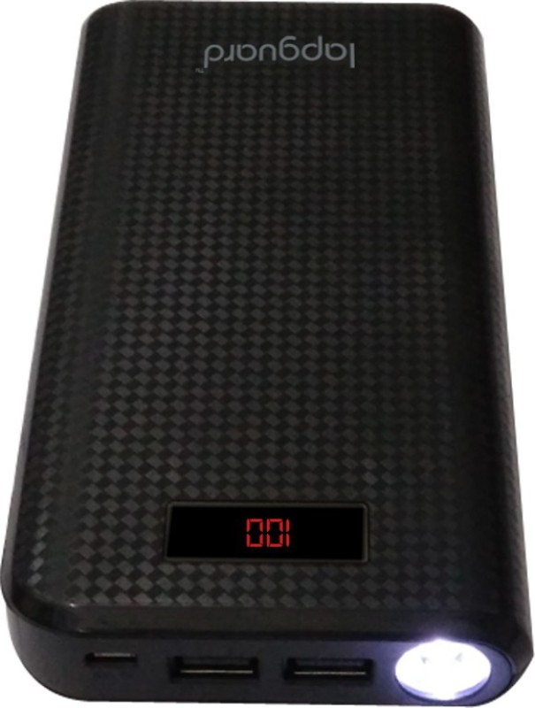 Lapguard 20000 mAh Power Bank (LG807_20K)(Black, Lithium-ion)