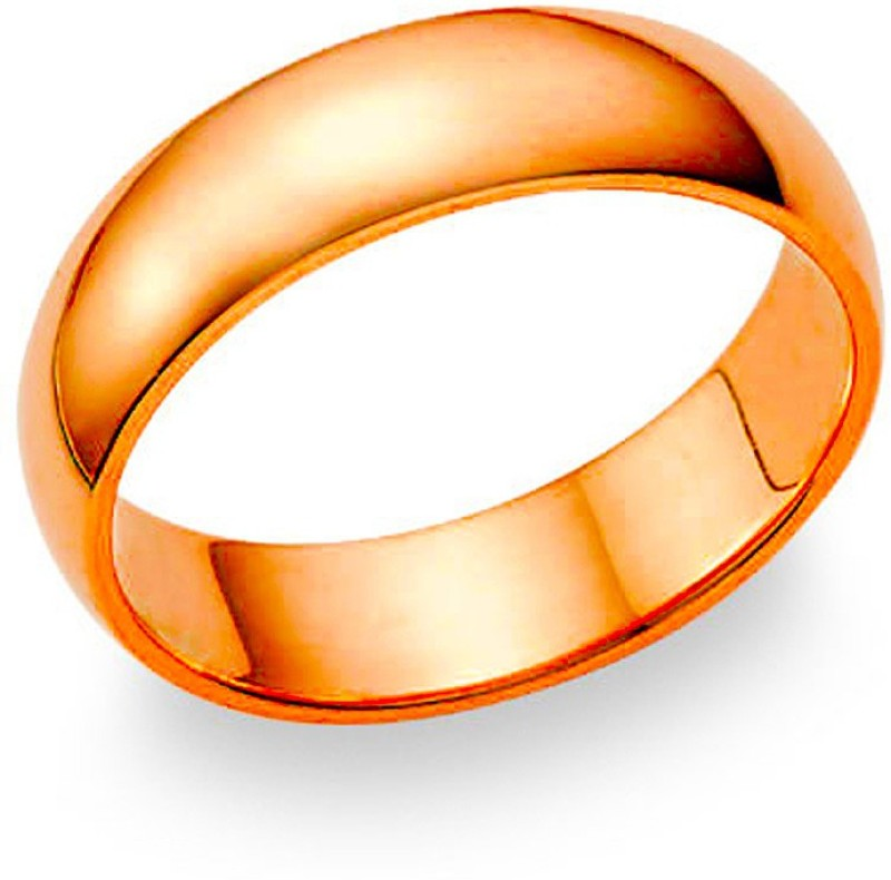NECR Pure Plain Glossy Copper Ring for Men and Women Copper Ring