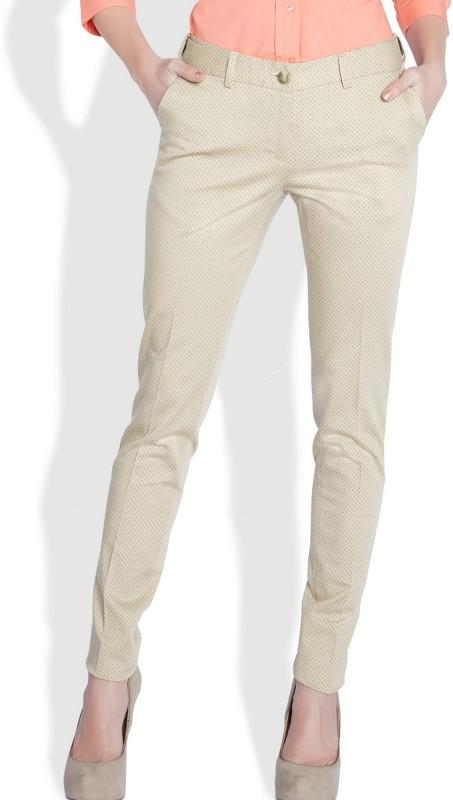 Park Avenue Slim Fit Women Beige Trousers