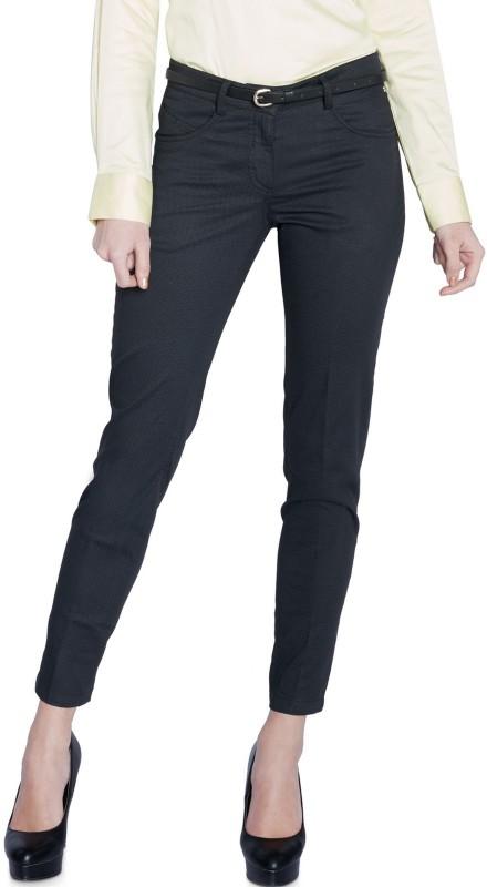 Park Avenue Slim Fit Women Black Trousers