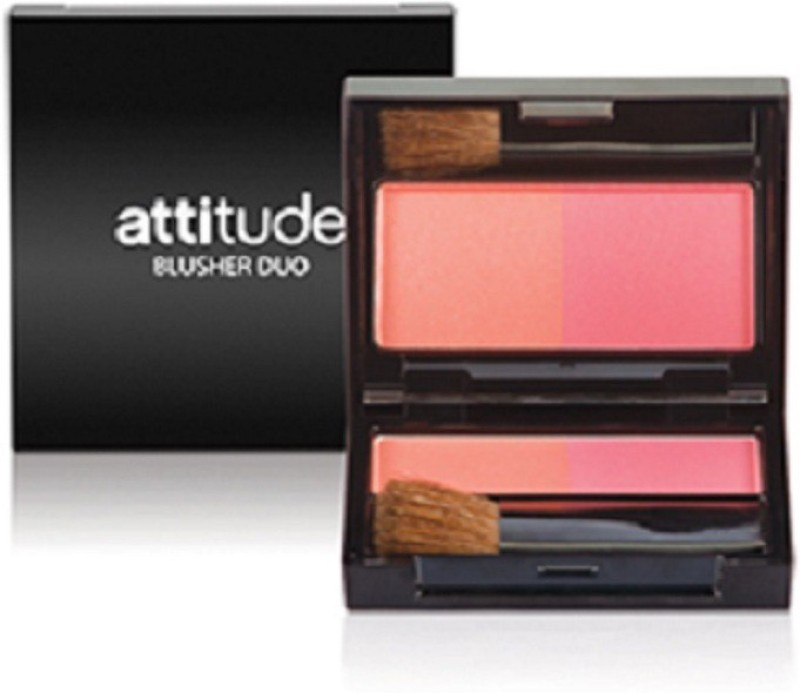 Amway Attitude Blusher Duo(Peach Whisper, Barely Pink)