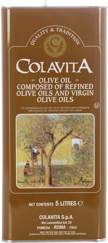 Colavita 100% Authentic Italian Naturally Pure Olive Oil 5 L