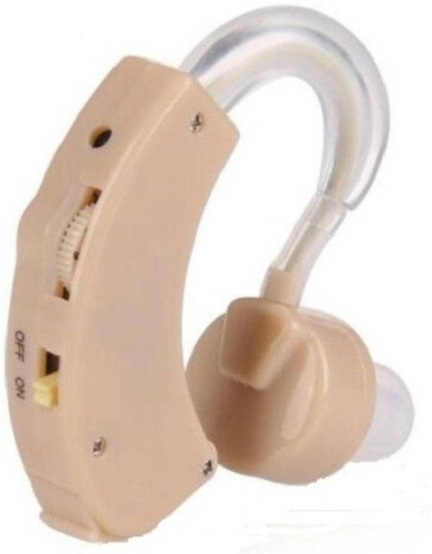Trishir Along With 6 Batteries Batteries Superior Quality Behind The Ear Hearing Aid(Beige)
