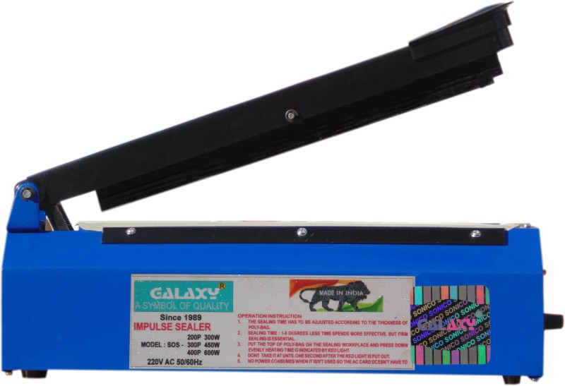 Galaxy Hand Held Table Top Plastic pouch & Bag heat sealing packing Machine 12 inch (300 mm) Metal Body Hand Held Heat Sealer(300 mm)