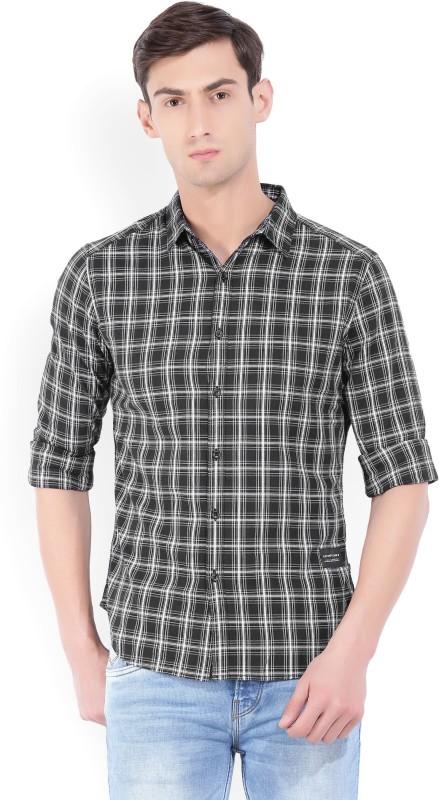 Levis Mens Checkered Casual Black, White Shirt