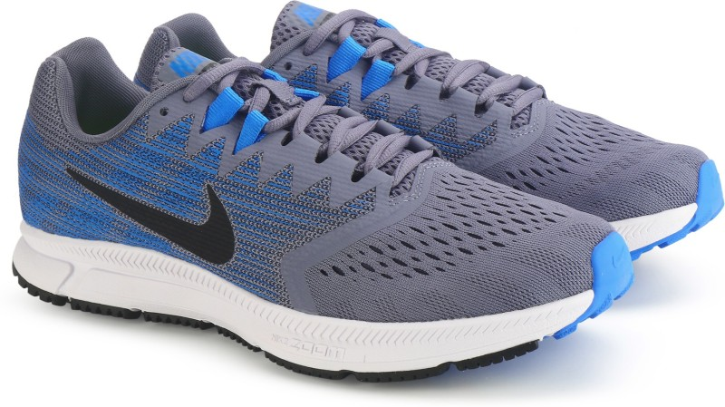 Nike ZOOM SPAN 2 Running Shoes For Men(Blue, Grey)