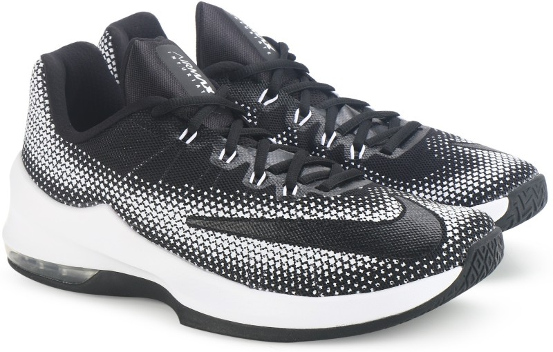 Nike AIR MAX INFURIATE LOW Basketball Shoes For Men(Black, White)