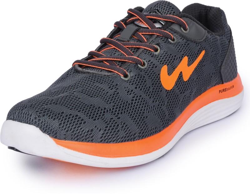 Campus ZEAL Running Shoes For Men(Grey, Orange)