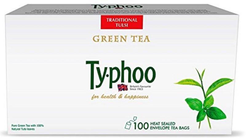 Typhoo Tulsi Tulsi Green Tea Bags(100 Bags, Box)