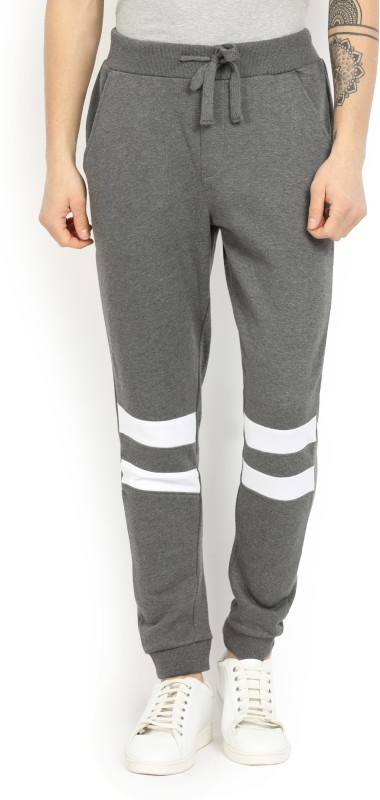 French Connection Maks Striped Mens Grey Track Pants