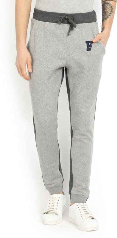French Connection Maks Solid Mens Black, Grey Track Pants