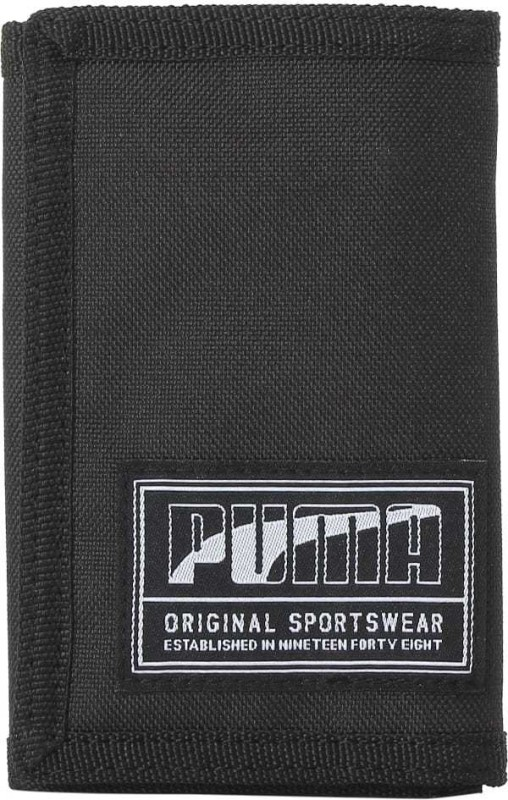Puma Men Black Canvas Wallet(1 Card Slot)