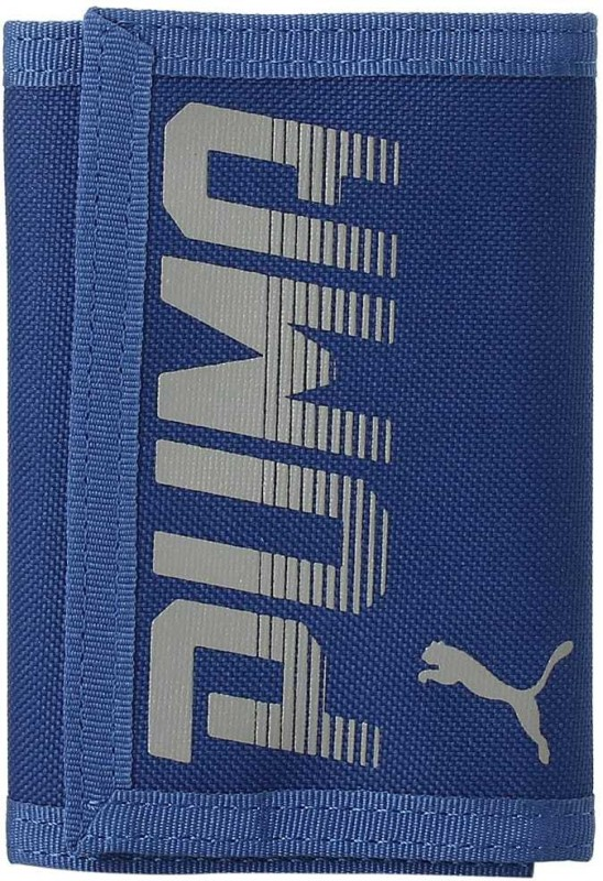 Puma Men Blue Canvas Wallet(1 Card Slot)