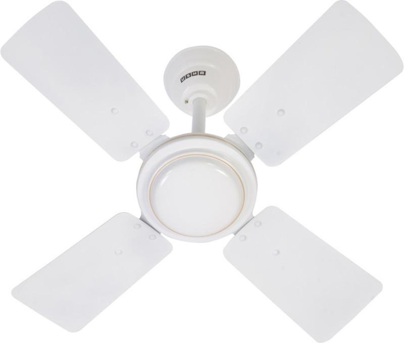 Usha 600MM SWIFT W/O REG WH CF 4 Blade Ceiling Fan(White)