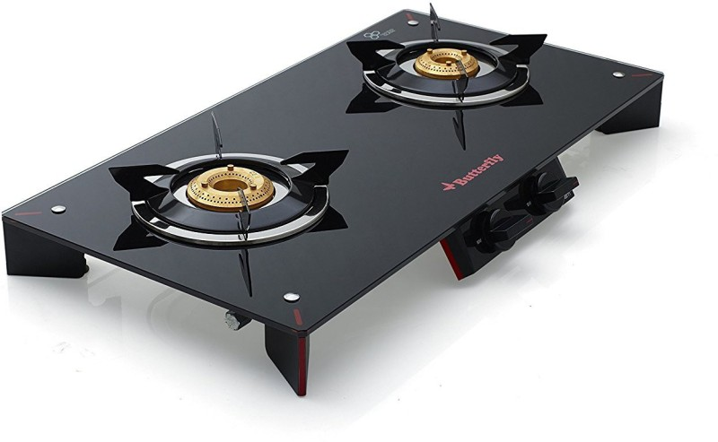 Butterfly Glass Manual Gas Stove(2 Burners)