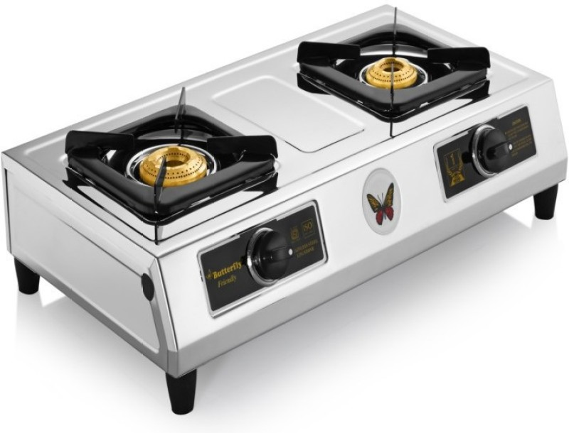 Butterfly Friendly Steel Manual Gas Stove(2 Burners)