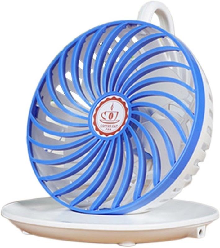 Happy2Buy Foldable Self Design Blue Hand Fan(Pack of  1)