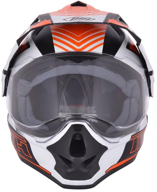 THH Helmets TX 13 Orange Velocity (Matte) Motorbike Helmet(Orange)