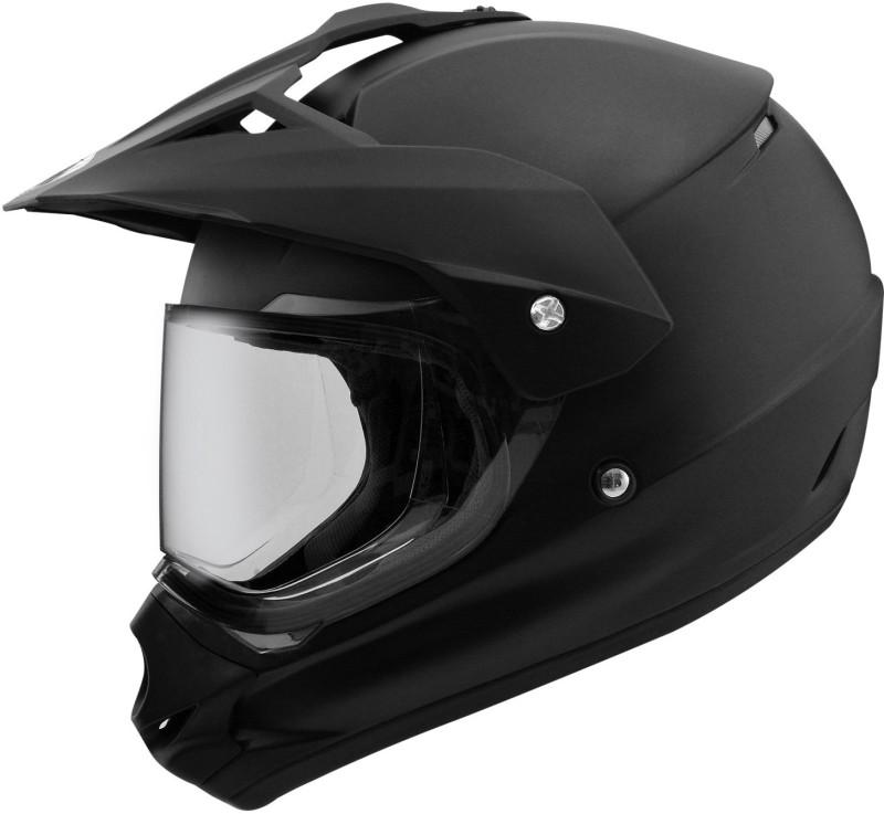 THH HELMETS THH TX13 matte black (MIRROR VISOR) Motorbike Helmet(Matte Black)
