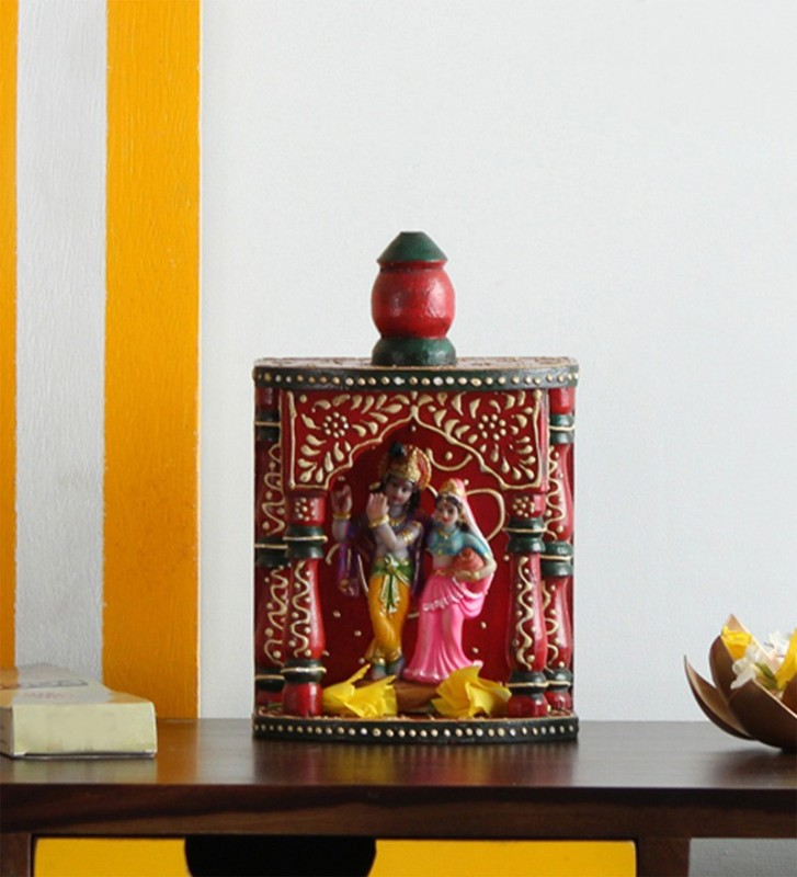 The Attic Solid Wood Home Temple(Height: 26 cm)