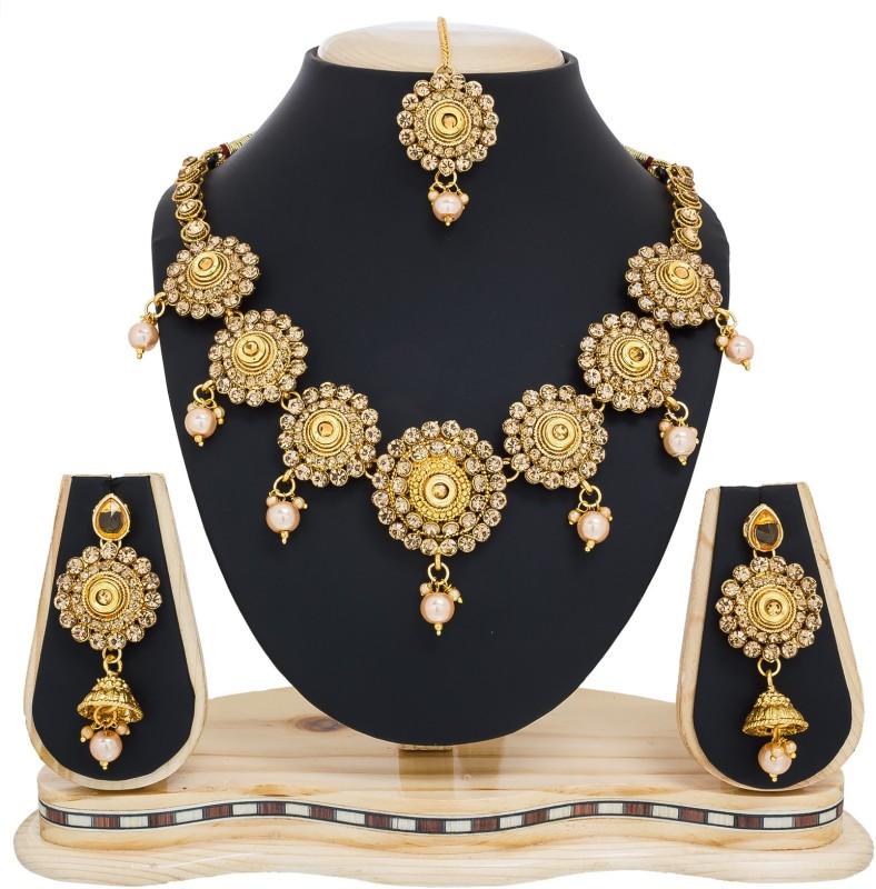 Luxor Alloy Jewel Set(Gold)
