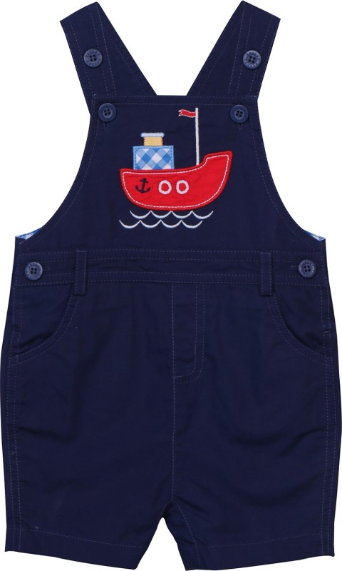 Beebay Dungaree For Boys Casual Applique Cotton(Blue, Pack of 1)
