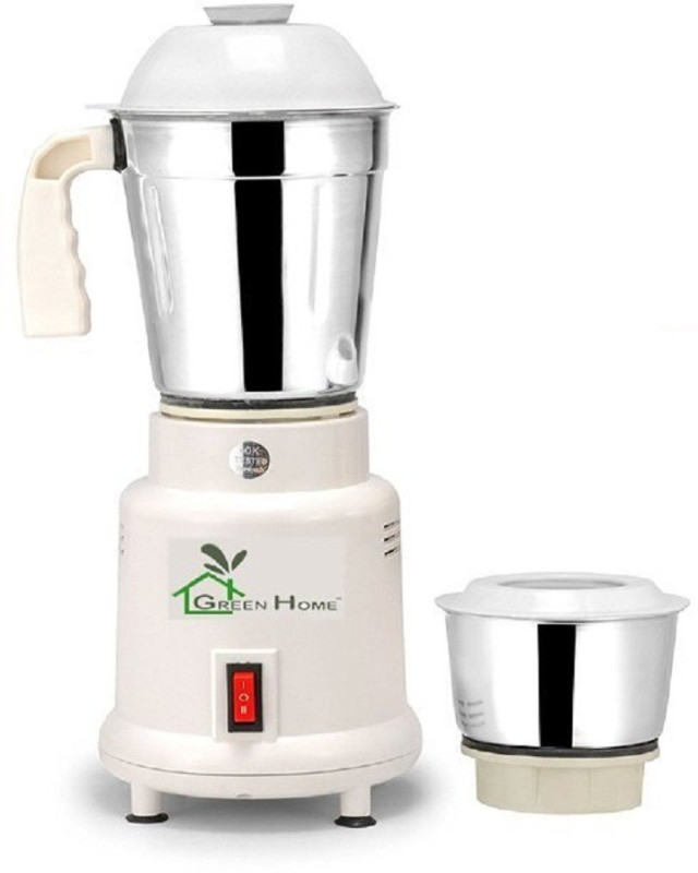 ASC Green Home Lotto Mixer Grinder 450w With 2 Stainless steel Jar 450 Mixer Grinder(White, 2 Jars)