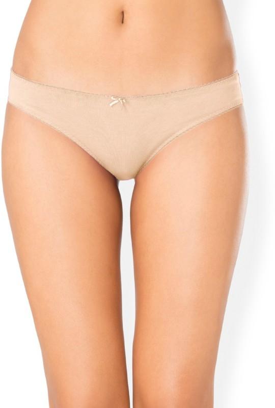 PrettySecrets Women Bikini Beige Panty(Pack of 1)