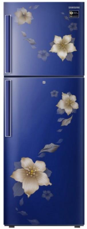 Samsung 253 L Frost Free Double Door Top Mount 2 Star Refrigerator(Star Flower Blue, RT28N3342U2-HL/RT28N3342U2-NL)