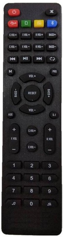 LipiWorld Home Theater System Remote Control Compatible For ZEBRONICS Home Theater Remote Controller(Black)