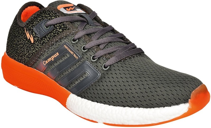 Campus Campus BATTLE D.Gry/Org Men Running Shoes Running Shoes For Men(Grey, Orange)