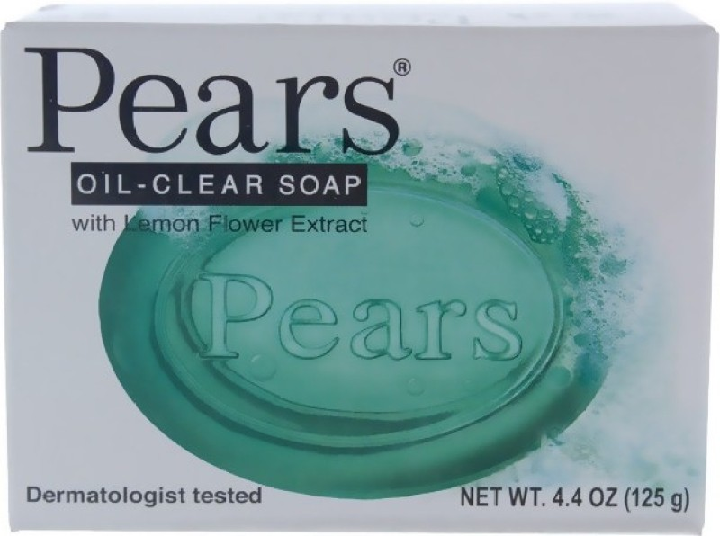 Pears Oil Clear Hypoallergenic Bar(125 g, Pack of 2)