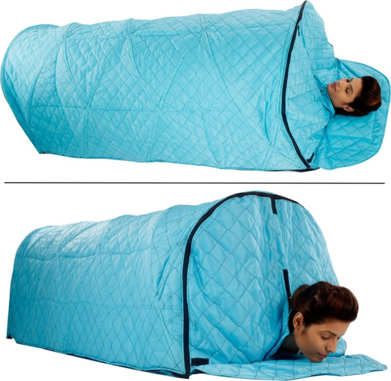 Kawachi I73 Kawachi Arch Spa - With Sleeping Tent Four layer Fabric Personal Home Therapeutic Portable Steam Spa Bath Detox Weight Loss without Steam Pot Portable Steam Sauna Bath(Blue)