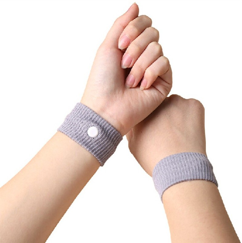 Mediexchange Travel Sickness Anti-nausea Wristbands Motion Sickness Relief Band Pack Of 2 - p6double (Grey) Wrist Support(Grey)