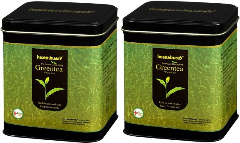 Healthbuddy Premium Darjeeling Green Tea (Whole Leaf), 2 Packs of 100 gm Each Unflavoured Green Tea(200 g, Box)