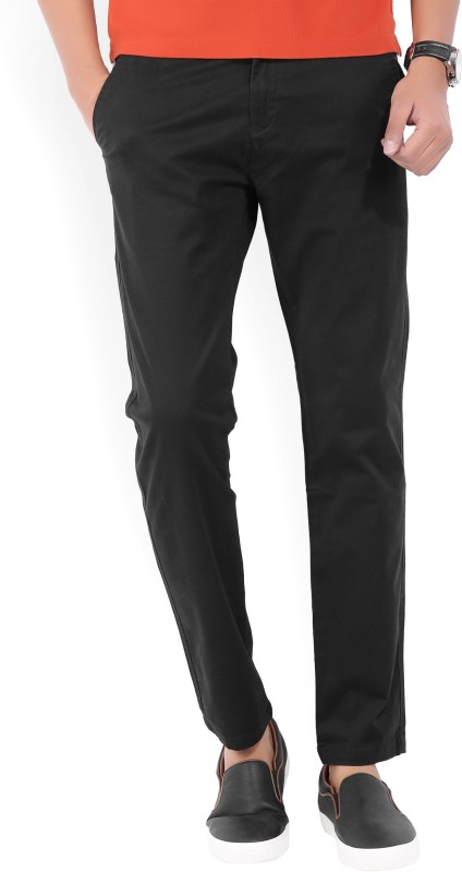 French Connection Regular Fit Mens Black Trousers