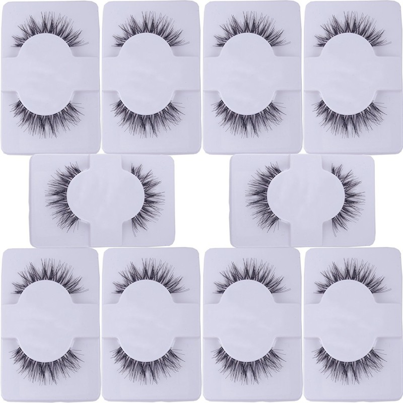 Confidence Black Natural Thick Long False Eyelashes(Set of 10 pairs)(Pack of 20)