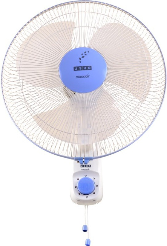 Usha WF 400MM MAXX AIR BLUE 3 Blade Wall Fan(Blue)